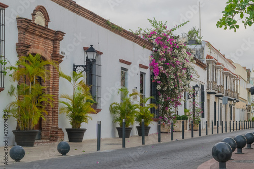 Fotomural  Historical street in the colonial city of Santo Domingo