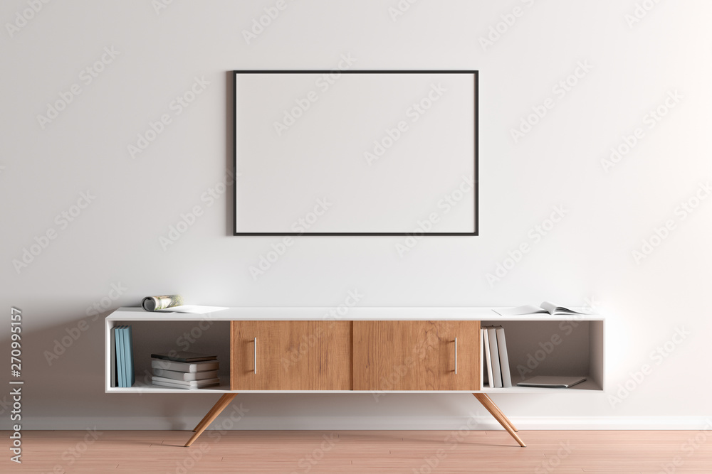 Fototapety, obrazy: Blank horizontal posters mock up with black frame