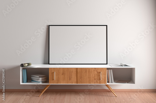 Blank horizontal posters mock up with black frame Canvas-taulu