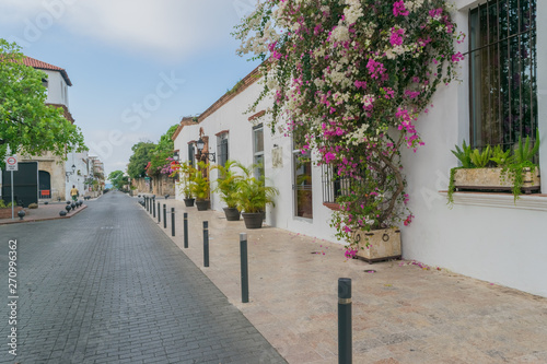 Fototapety, obrazy: Historical street in the colonial city of Santo Domingo