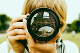 Fototapeta Fototapety z wieżą Eiffla - Eiffel tower lens reflection