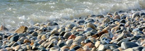Fotografie, Obraz  Galets mouillés en bord de mer