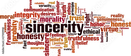 Carta da parati Sincerity word cloud