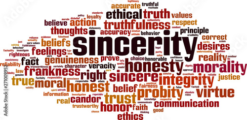 Stampa su Tela Sincerity word cloud