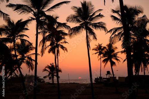 アラビア海に沈む夕日