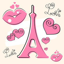 Paris Hand Drawn Vector Letter...