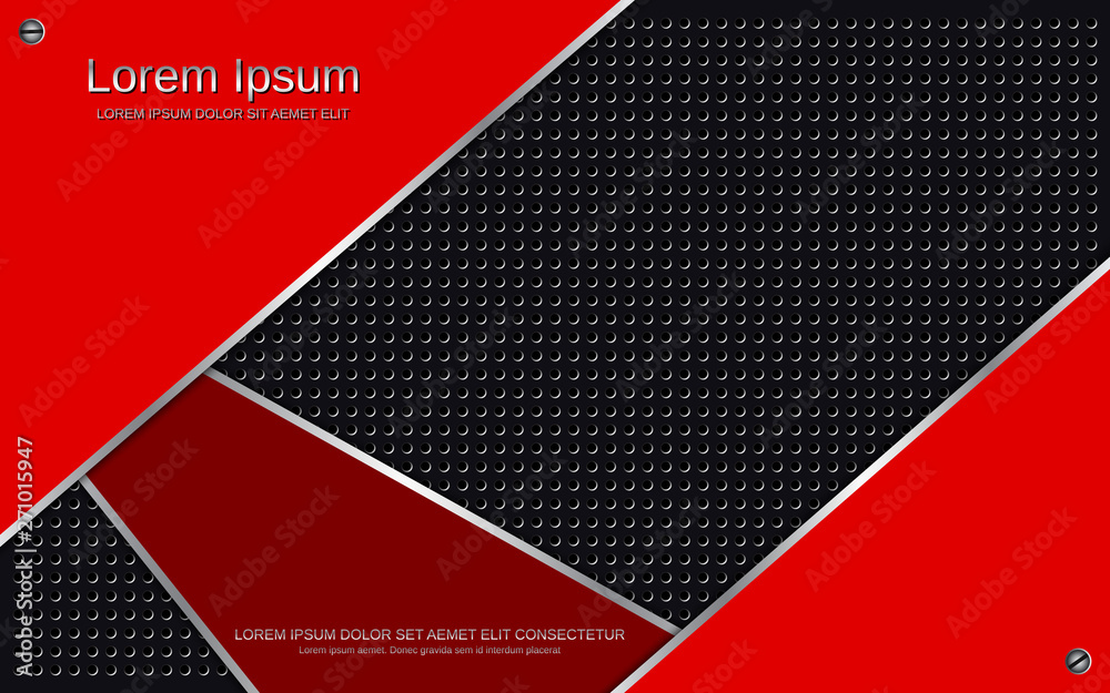 Fototapety, obrazy: Abstract layered metallic vector background. Design for web page and presentation