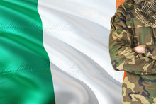 Crossed Arms Irish Soldier Wit...