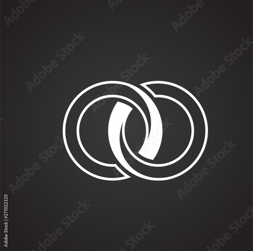 Fototapeta  Wedding ring icon on background for graphic and web design