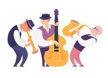 Cartoon Jazz Musicians Group V...