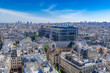 canvas print picture Paris, panorama of the city, with the Pompidou center, and the Saint-Merri church
