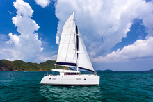 Catamaran In Andaman Sea At Ph...