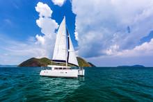 Catamaran In Andaman Sea At Ph...