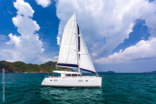 Slika na platnu Catamaran in Andaman sea at Phuket, Thailand