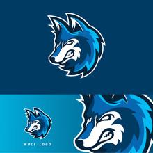 Wolf Esport Gaming Mascot Logo...