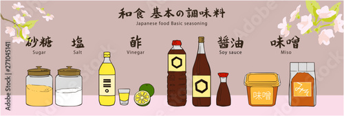 Photo 和食 基本の調味料