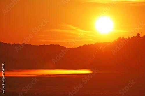 Poster Zonsondergang Sonnenuntergang auf der Schwäbischen Alb