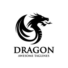 Creative Dragon Silhouette Cir...
