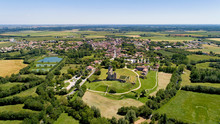 Aerial View Of Maillezais Abbe...