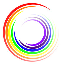 Swirl Colors LGBT Rainbow, Vector Swirl Swirling Rays Of Colors Of The Rainbow Logo Template
