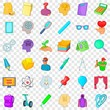 Certificate icons set. Cartoon style of 36 certificate vector icons for web for any design