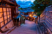 [京都]東山・清水寺参道の風景