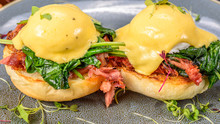 A Serving Of Two Eggs Benedict...