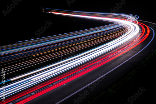 lights of cars with night Tableau sur Toile