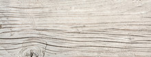 Texture Of Antique Floorboards, Old Dried Wood With A Lot Of Cracks And Peeling Fibers, Closeup Abstract Background