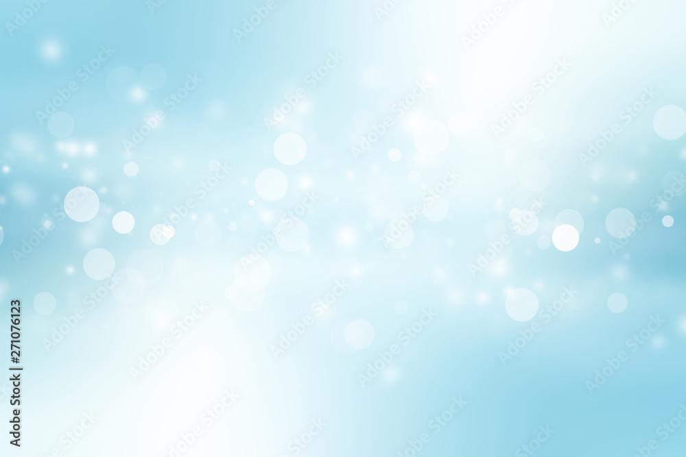 Fototapeta white bokeh blur background / Circle light on blue background / abstract light background