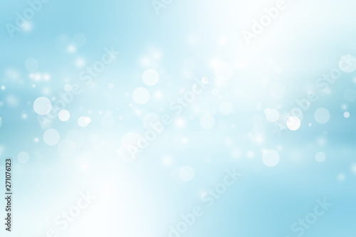 white bokeh blur background / Circle light on blue background / abstract light b Tablou Canvas