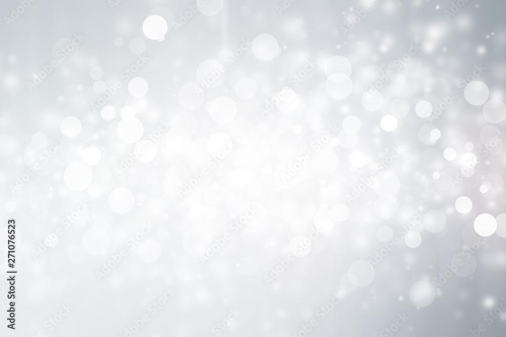 Fototapety, obrazy: white blur abstract background. bokeh christmas blurred beautiful shiny Christmas lights