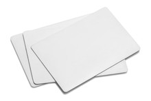 Blank White Cards Or Tickets/flyers, Isolated On White Background