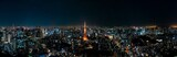 Fototapeta Miasto - The most beautiful Viewpoint Tokyo tower in tokyo city ,japan.