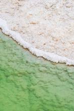 Close Up View Of Salt Crystals And Mineral Formation On The Shore Of Dead Sea In Israel