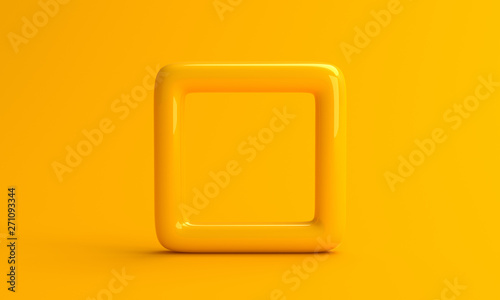 Fotografie, Obraz  Abstract 3d render, minimalistic background, modern graphic design