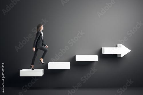 Obraz na plátně Growth and success concept