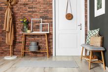 Hallway Interior With Stylish ...