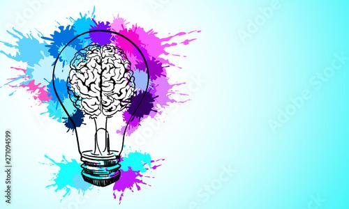 Obraz Idea and creativity concept - fototapety do salonu