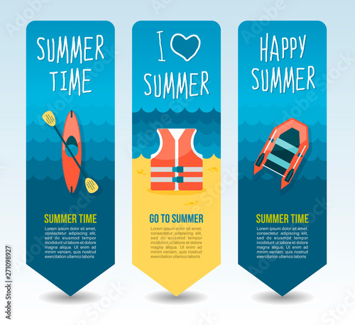 Photo Travel and vacation vector banners