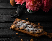 Heart Shaped Cookies, On Woode...