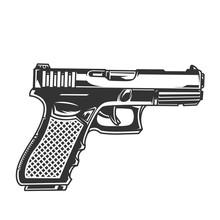 Vintage Glock Pistol Concept