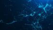 Leinwanddruck Bild - Abstract blue digital background. Big data visualization. Science background. Big data complex with compounds. Lines plexus.