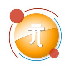 okrągły baner z ikoną