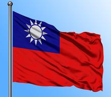 Taiwan Flag Waving In The Deep...