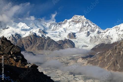 mount Gyachung Kang 7952m, Nepal Himalayas mountains Canvas-taulu