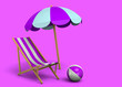 Leinwandbild Motiv Relax in Summer - 3D