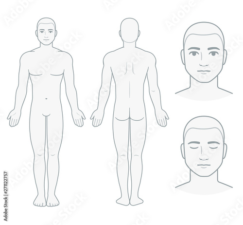 Foto Male body and face chart