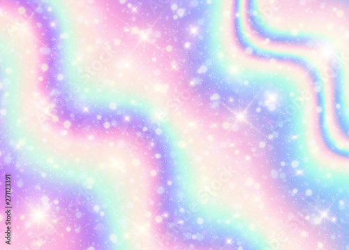 Vector illustration of galaxy holograpic background and ...