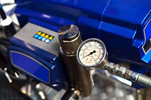 Mechanical Measuring Device, Pressure Gauges, Manometer. Abstract Industrial Background